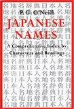 Japanese Names: A Comprehensive Index by Characters and Readings