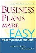 Business Plans Made Easy It's Not As Hard As You Think!