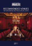 CONDE' NAST JOHANSENS RECOMMENDED VENUES 2011: For Conferences, Meetings and Special Events