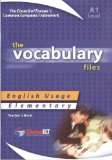 Vocabulary Files - A1, Teacher's Book: English Usage - Elementary