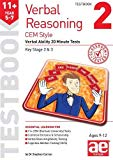 11+ Verbal Reasoning Year 5-7 CEM Style Testbook 2