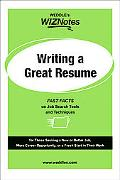 Writing a Great Resume Fast Facts On Job Search Tools and Techniques