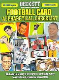 Beckett Football Card Alphabetical Checklist