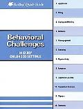 Behavioral Challenges in Child Care Settings