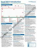 Microsoft Excel 2013 Introduction Quick Reference Guide (Cheat Sheet of Instructions, Tips a...