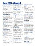 Microsoft Word 2007 Advanced Quick Reference Guide (Cheat Sheet of Instructions, Tips & Shor...