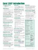 Microsoft Excel 2007 Introduction Quick Reference Guide (Cheat Sheet of Instructions, Tips &...