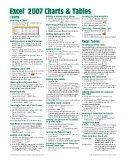 Microsoft Excel 2007 Charts & Tables Quick Reference Guide (Cheat Sheet of Instructions, Tip...
