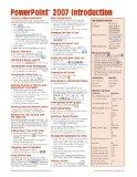 Microsoft PowerPoint 2007 Introduction Quick Reference Guide (Cheat Sheet of Instructions, T...