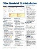 Microsoft SharePoint 2010 Quick Reference Guide: Introduction (Cheat Sheet of Instructions, ...