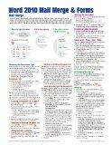 Microsoft Word 2010 Mail Merge & Forms Quick Reference Guide (Cheat Sheet of Instructions, T...