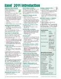 Excel 2011 for Mac: Introduction Quick Reference Guide (Cheat Sheet of Instructions, Tips & ...