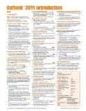 Outlook 2011 for Mac: Introduction Quick Reference Guide (Cheat Sheet of Instructions, Tips ...