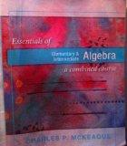 Essentials of Elementary & Intermediate Algebra a Combined Course