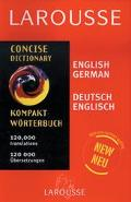 Larousse Concise Dictionary English German, German English