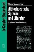 Althochdeutsche Sprache Und Literatur Eine Einfuhrung in Das Alteste Deutsch