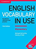 English Vocabulary in Use. Elementary. 3rd Edition. Book with answers