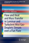 Flow and Heat and Mass Transfer in Laminar and Turbulent Mist Gas-Droplets Stream over a Fla...