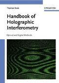 Handbook Of Holographic Interferometry Optical And Digital Methods