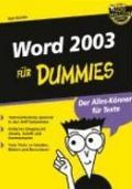 Word 2003 f�r Dummies