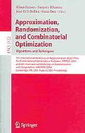 Approximation, Randomization and Combinatorial Optimization Algorithms and Techniques; 7th I...