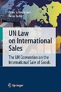 Un Law on International Sales The Un Convention on the International Sale of Goods