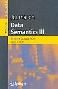 Journal of Data Semantics III