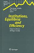 Institutions, Equilibria And Efficiency Essays in Honor of Birgit Grodal