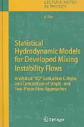 Statistical Hydrodynamic Models for Developed Mixing Instability Flows Analytical