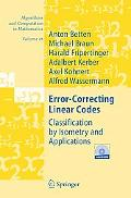 Error-correcting Linear Codes Classification by Isometry And Applications