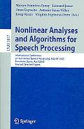 Nonlinear Analyses And Algorithms for Speech Processing International Conference on Non-lone...