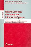 Natural Language Processing And Information Systems 11th International Conference on Applica...