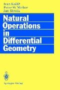 Natural Operations in Differential Geometry