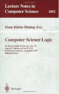 Computer Science Logic 9th International Workshop, Csl '95, Annual Conference of the Eacsl, ...