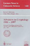 Advances in Cryptology, 1981-1997: Electronic Proceedings and Index of the Crypto and Eurocr...