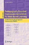 Pedagogically Founded Courseware Generation for Web-Based Learning: An Htn-Planning-Based Ap...