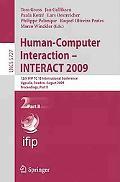 Human-Computer Interaction - INTERACT 2009: 12th IFIP TC 13 International Conference, Uppsal...