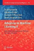 Advances in Machine Learning II: Dedicated to the memory of Professor Ryszard S. Michalski (...