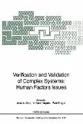 Verification and Validation of Complex Systems: Human Factors Issues (NATO ASI Series / Comp...