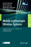Mobile Lightweight Wireless Systems : Second International ICST Conference, Mobilight 2010, ...