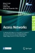 Access Networks : 5th International ICST Conference on Access Networks, AccessNets 2010 and ...