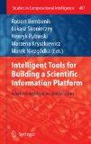 Intelligent Tools for Building a Scientific Information Platform: Advanced Architectures and...
