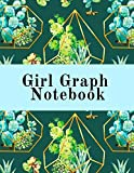 Girl Graph Notebook: Squared Coordinate Paper Composition Notepad - Quadrille Paper Book for...