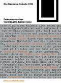 Die Bauhaus-Debatte 1953: Dokumente einer verdrngten Kontroverse (Bauwelt Fundamente) (Germa...