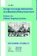 Foreign Exchange Intervention As a Monetary Policy Instrument Evidence for Inflation Targeti...