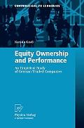 Equity Ownership and Performance An Empircal Study of German Traded Companies