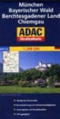 ADAC StraenKarte Deutschland 10. Mnchen, Bayerischer Wald, Berchtesgadener Land, Chiemgau 1:...