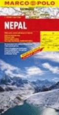 Nepal Marco Polo Map (Marco Polo Maps) (French Edition)