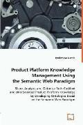 Product Platform Knowledge Management Using the Semantic Web Paradigm