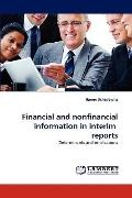 Financial and Nonfinancial Information in Interim Reports